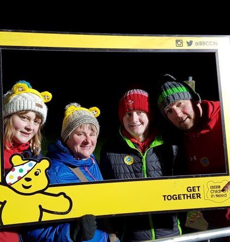 Morben Isaf Holiday Park put on their Pudsey Ears for the BBC One Show Children in Need Rickshaw Challenge 2019